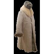 Тулуп армейский постовой (караульный) из натуральной нагольной овчины белого цвета (Класс Люкс)